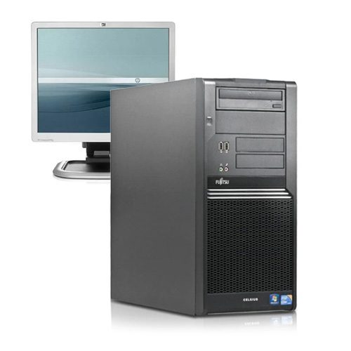 """ordenador sobremesa fujitsu celsius w380 + monitor 19"""" hp l1940"""