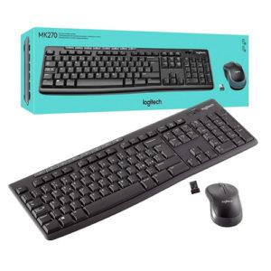 pack teclado y ratón logitech mk270