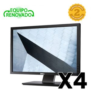 lote 4 monitores dell p2210