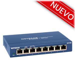 switch de red netgear sg108ge ethernet